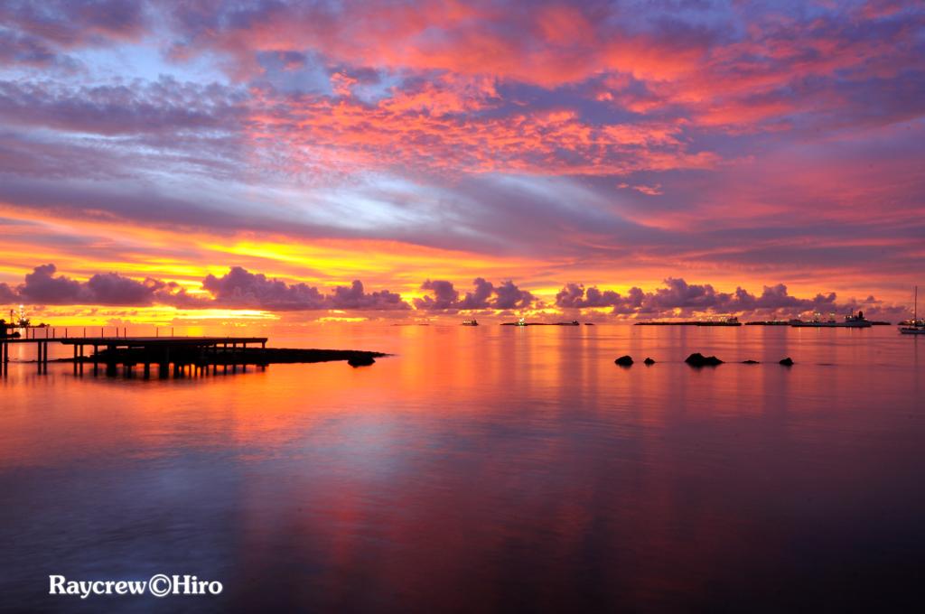 マーシャル諸島の夕焼け