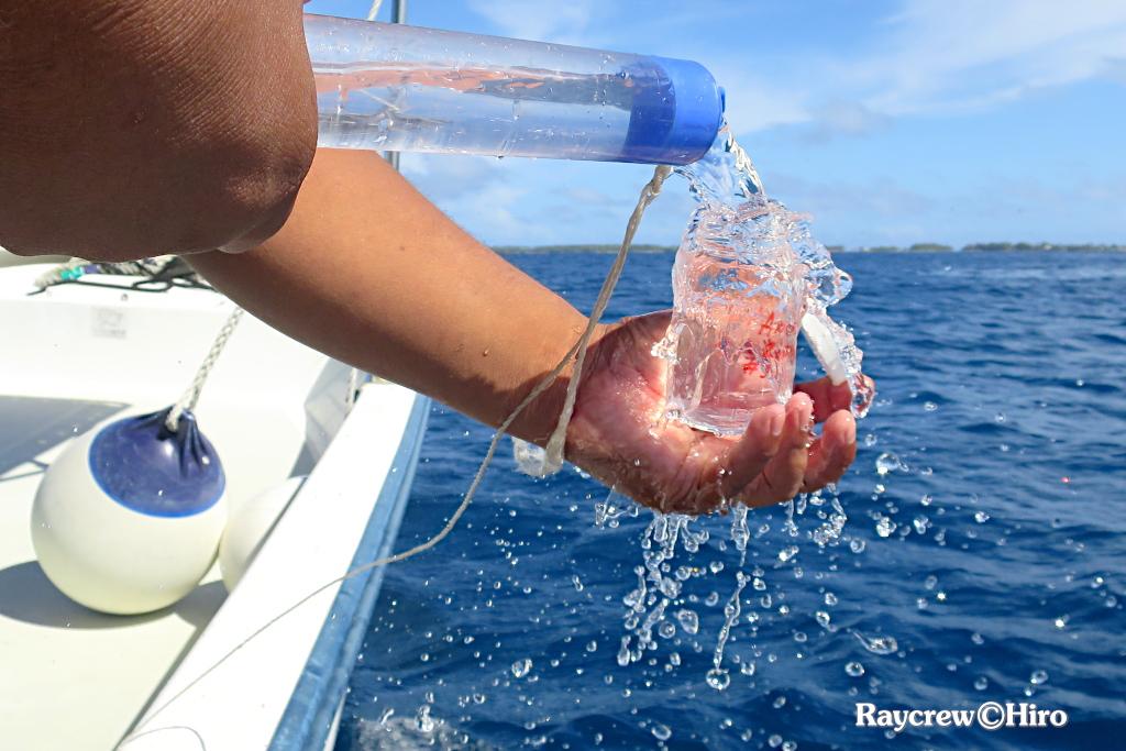 マジュロ環礁内の水質調査【海水採取】DAY2