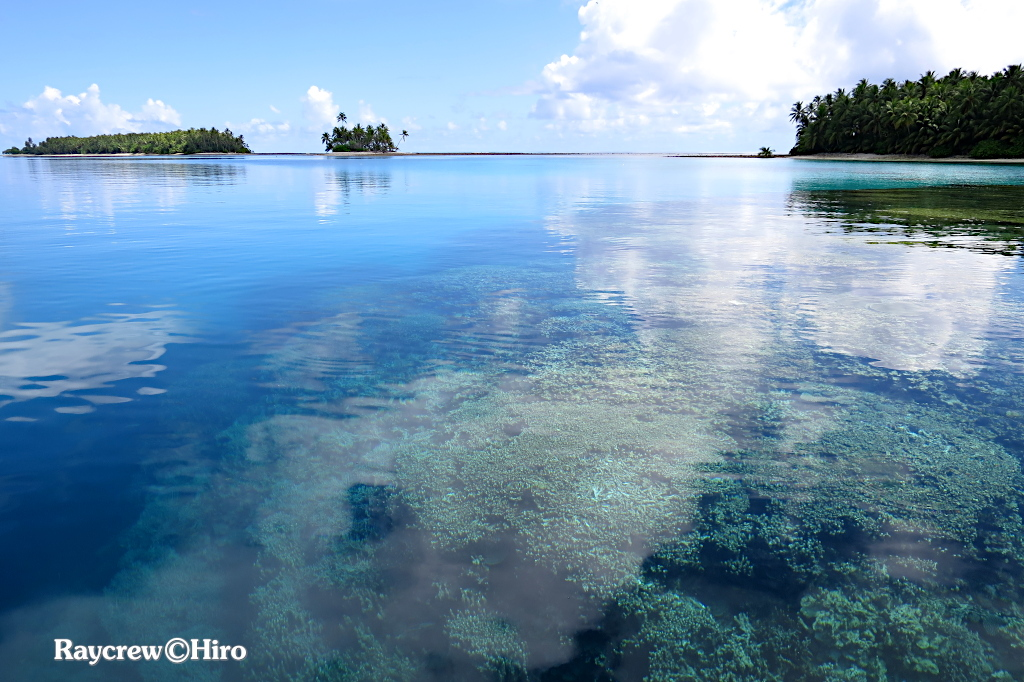 マジュロ環礁内のベタ凪フィッシング