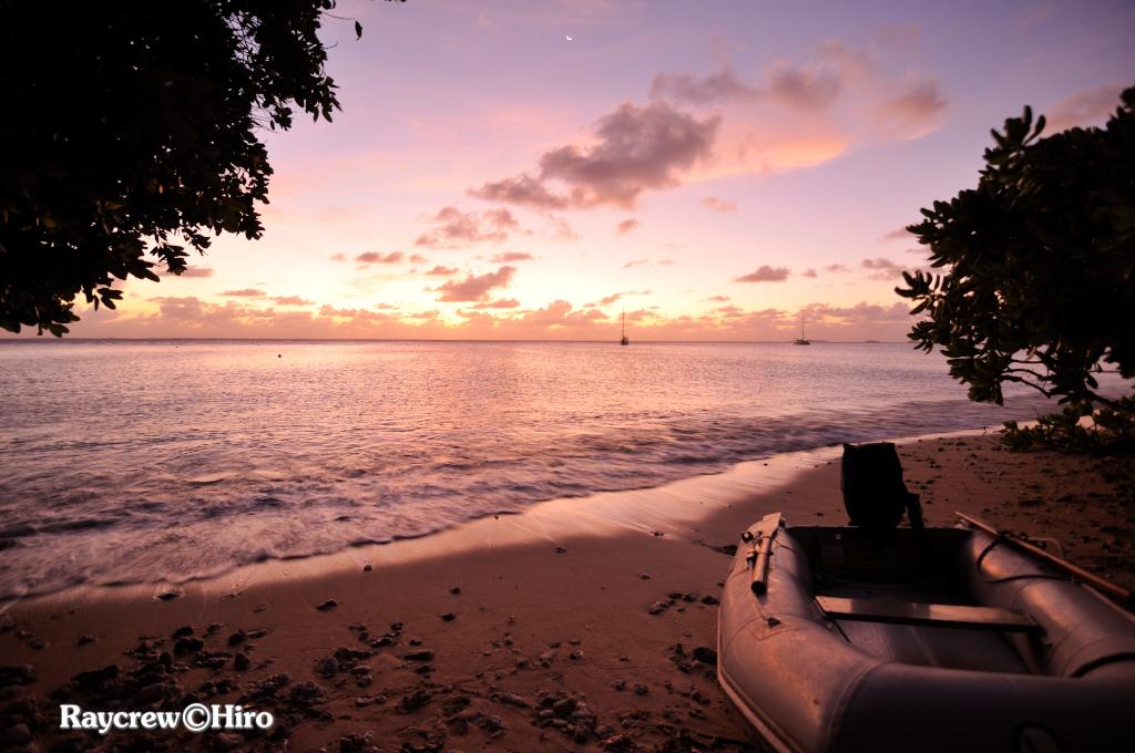 マーシャル諸島で観る美しい夕焼け