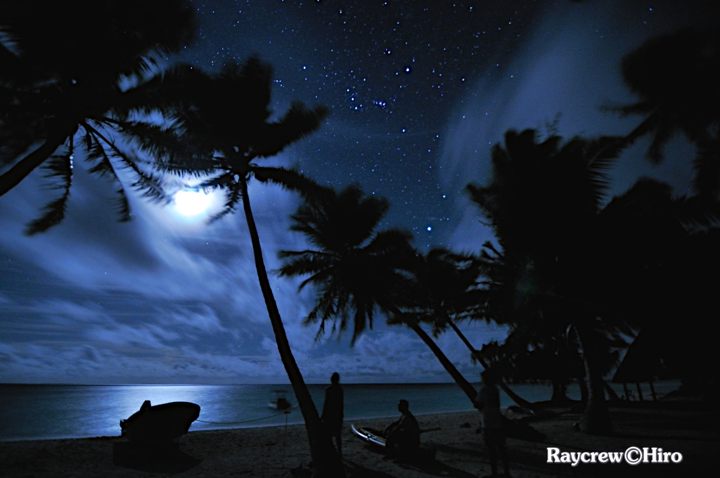 マーシャル諸島で観る満月と満天の星