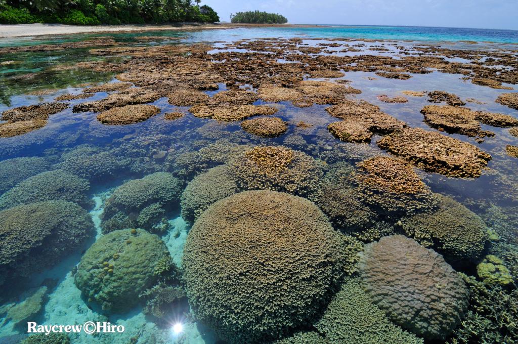 マーシャル諸島マジュロ環礁のベタ凪景観
