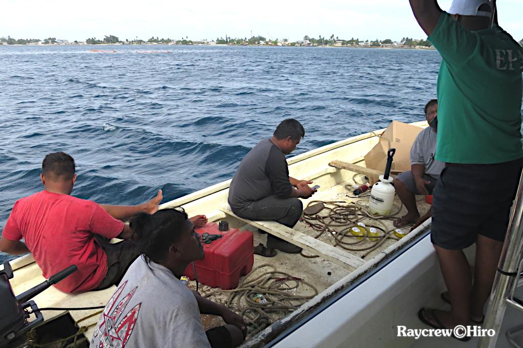 マジュロ環礁内停泊船沈没後の水中調査ダイビング