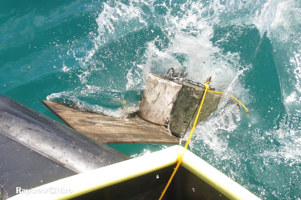 マジュロ環礁の洋上養殖ケージ新設置水面作業【Day1】