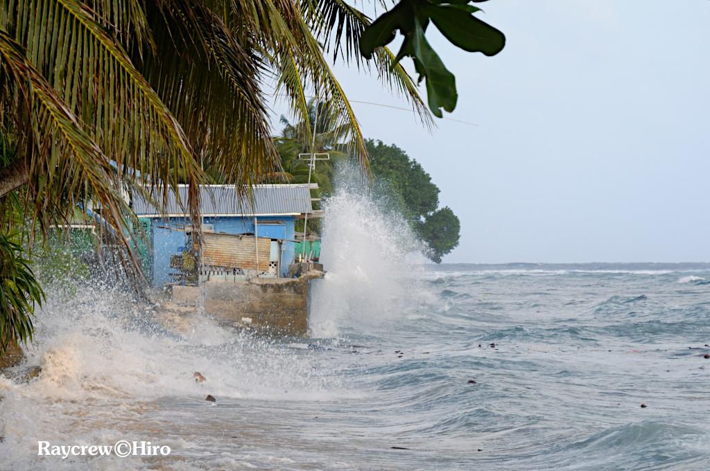 強風がもたらすマジュロ環礁の被害【マーシャル諸島を襲う波】
