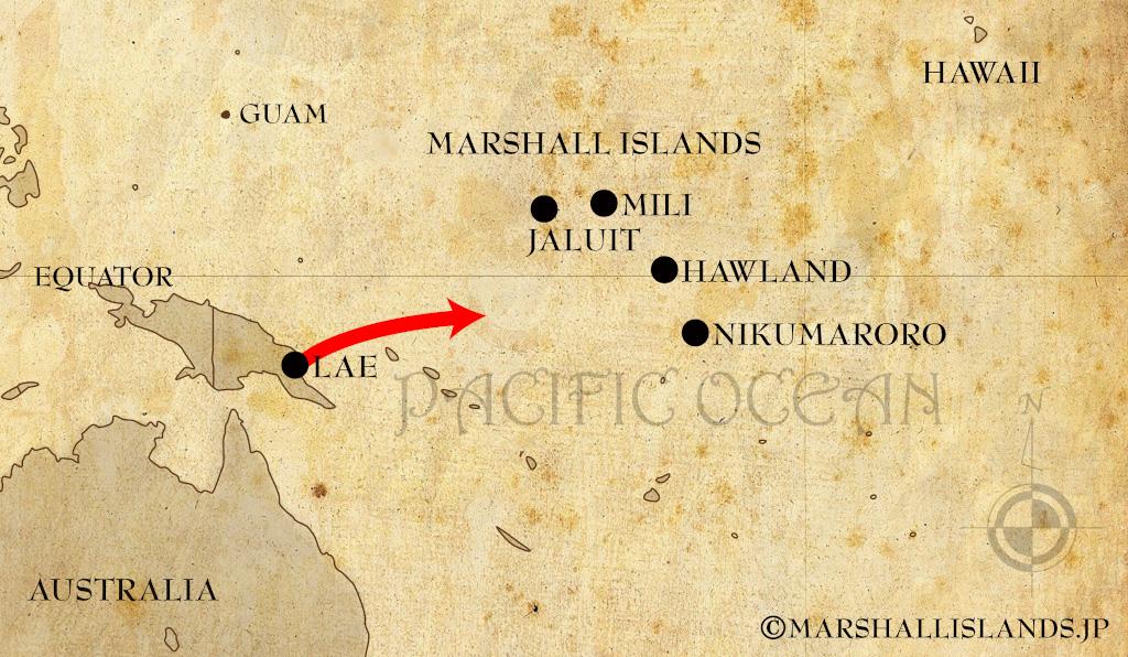 伝説の女性飛行士アメリア・イアハート【マーシャル諸島ミリ環礁で墜落か】